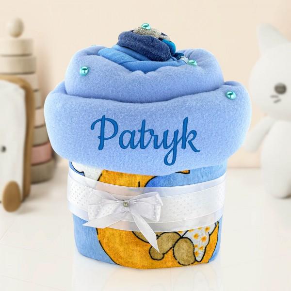 muffinka z pampersów dla chłopca