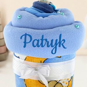 niebieska babeczka z pampersów
