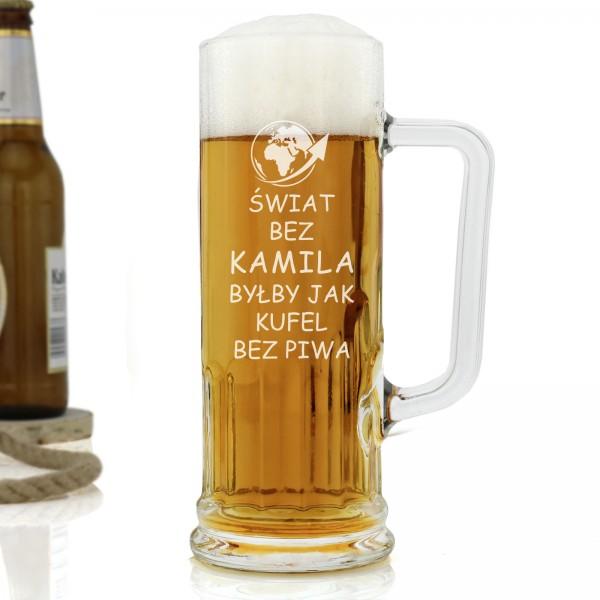 kufel do piwa z imieniem na prezent dla niego