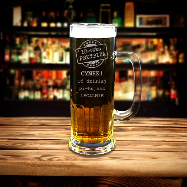 Kufel Na Piwo Z Dowolną Dedykacją Na 18 Te Urodziny