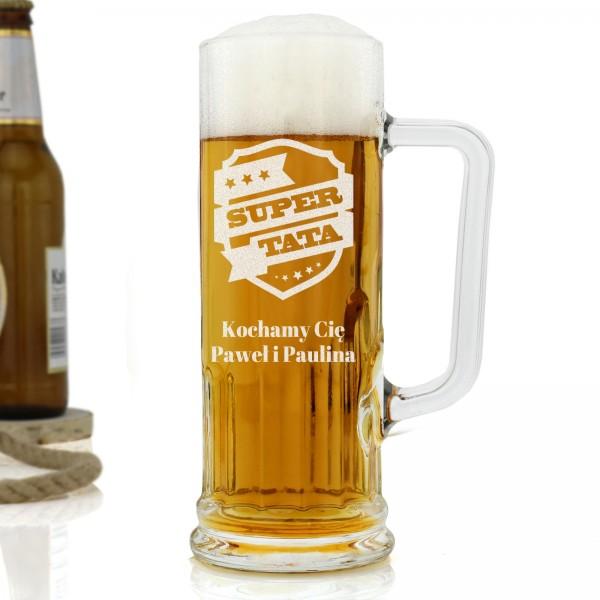 kufel na piwo z grawerem super tata