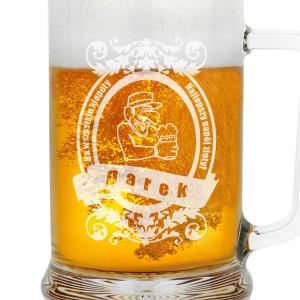 kufel na piwo z grawerem