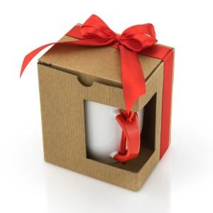Kubek zapakowany w pudełeczko