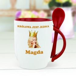 kubek ze zdjęciem królowa na prezent dla niej