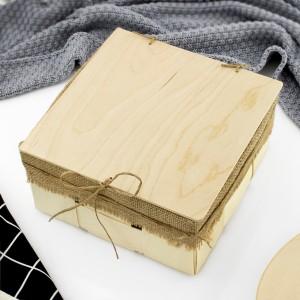 Pudełko drewniane na kubki