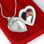 srebrny sekretnik za zdjęciem na prezent