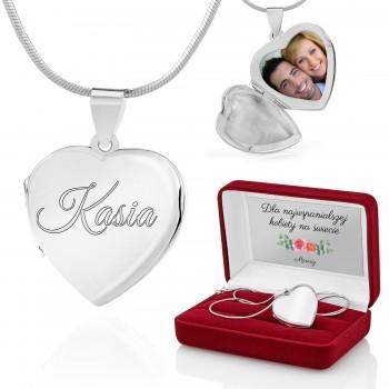 4a0c95cd621961 Grawerowana biżuteria dla niej, ze srebra, bransoletka damska z ...