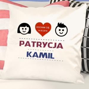 poduszka dla pary z personalizacją