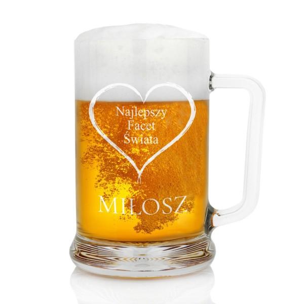 duży kufel na piwo z grawerem