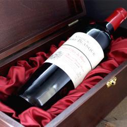 oryginalny prezent - drewniana skrzynia na wino z mosiężną podkową