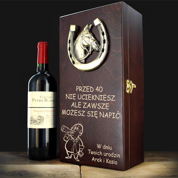 drewniana skrzynka na alkohol