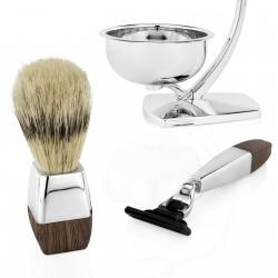 elegancki prezent dla mężczyzny zestaw do golenia brody