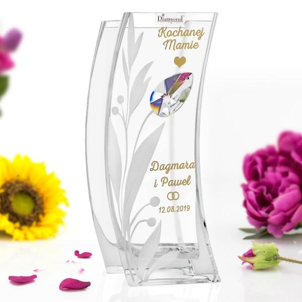 wazon z grawerem na podziękowania dla rodziców