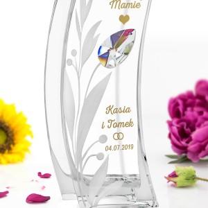 grawerowany wazon na podziękowania dla mamy