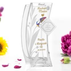 wazon z kryształem swarovskiego na podziękowania dla mamy