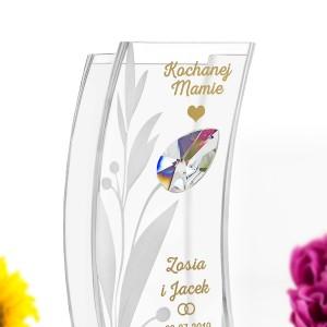 wazon z personalizacją na podziękowania dla rodziców