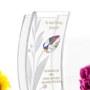 personalizowany wazon na prezent dla szefowej