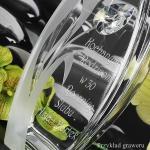 szklany wazon z dedykacją