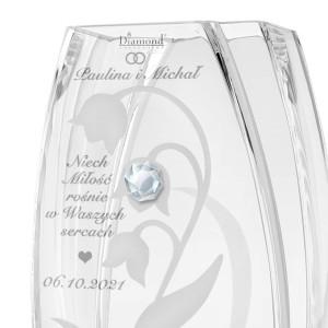szklany wazon z kryształem swarovski