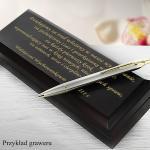 długopis parker w eleganckim drewnianym pudełku z Twoim grawerem