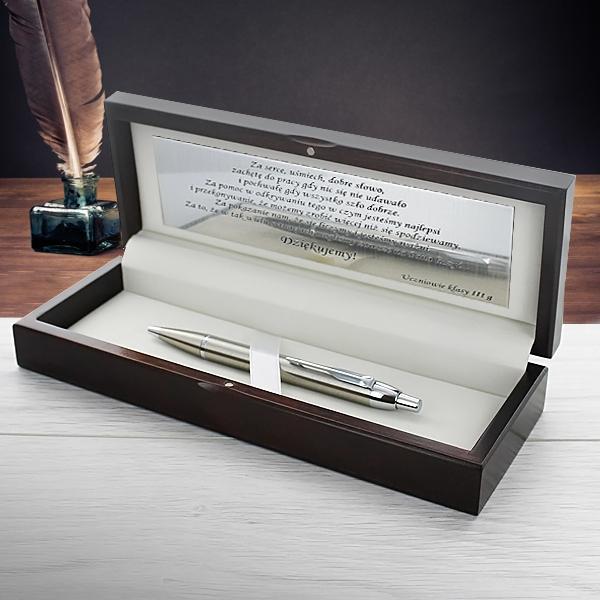 długopis parker w pudełku z dedykacją