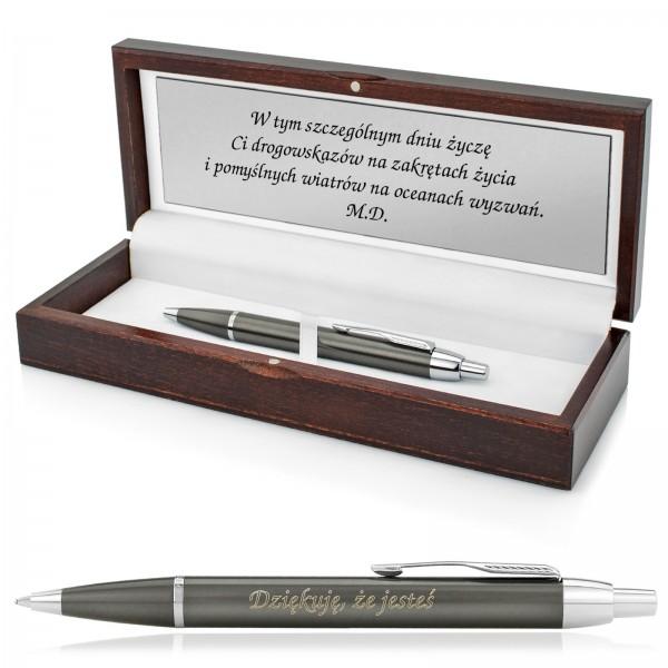 długopis parker w pudełku z grawerem na wyjątkowy prezent