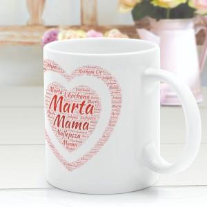 kubek z imieniem prezent na dzień matki