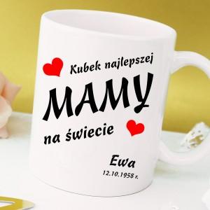 kubek z imieniem na prezent dla mamy