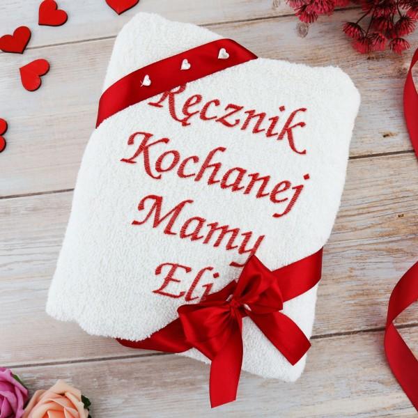 ręcznik z haftem na prezent dla mamy