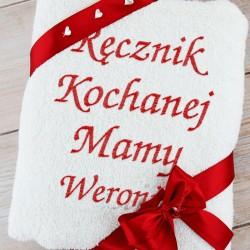 ręcznik z haftem dla mamy