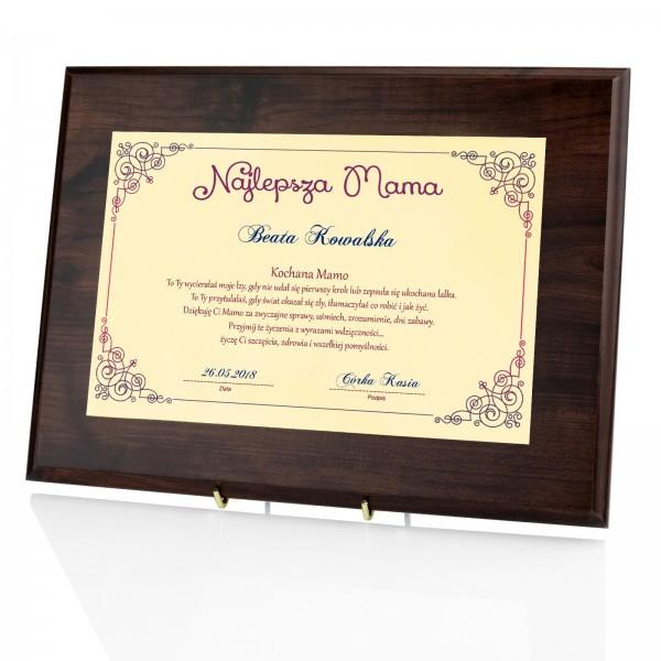 certyfikat z imieniem na prezent dla mamy