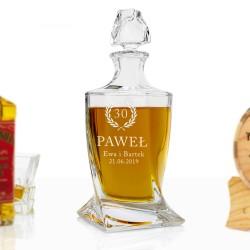 szklana karafka z grawerem