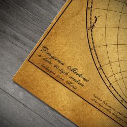 mapa świata prezent dla męża