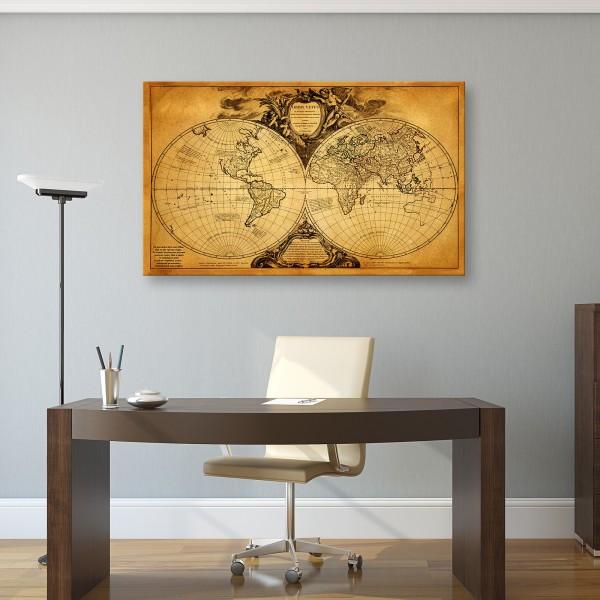 mapa świata z dedykacją na prezent