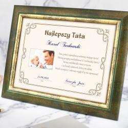 ramka ze zdjęciem i dedykacją na prezent dla taty na urodziny