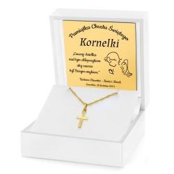 pamiątka chrztu świętego złoty krzyżyk na łańcuszku