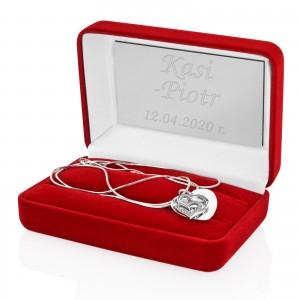 naszyjnik srebrny serce z grawerem dla niej
