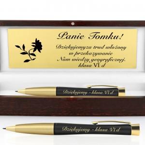 długopis Parker Urban Muted Black GT z grawerem dedykacji w drewnianym etui