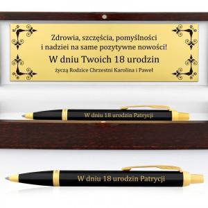 długopis w etui z grawerem na prezent