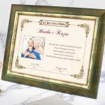 certyfikat z dedykacją na prezent na 40 rocznicę ślubu