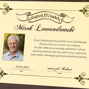 certyfikat super dziadek z personalizacją