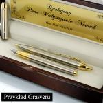 długopis i pióro parker w etui z opcją grawerowania