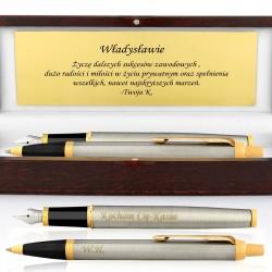 pióro i długopis parker z grawerem na prezent