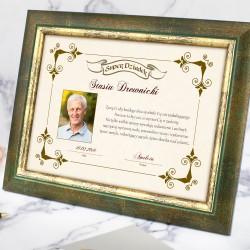 prezent dla dziadka na urodziny certyfikat z dedykacją