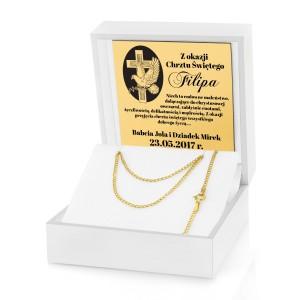 pomysł na prezent złoty łańcuszek na chrzest