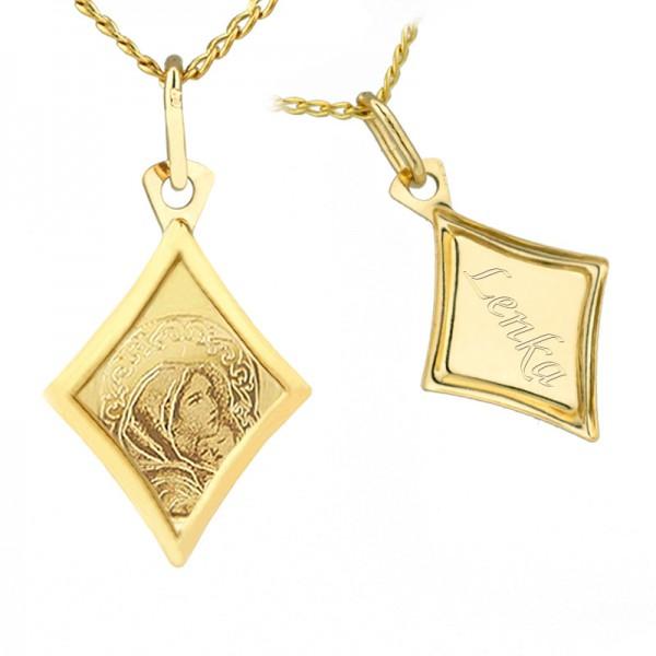 personalizowany złoty medalik pr. 585