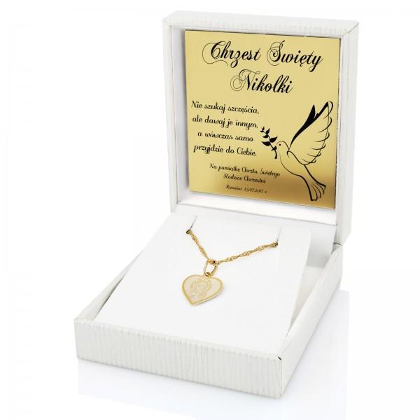 f607e4a23a Złoty medalik na łańcuszku z grawerem to znakomity prezent na ...