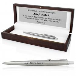 długopis z grawerem parker na podziękowanie dla wychowawcy