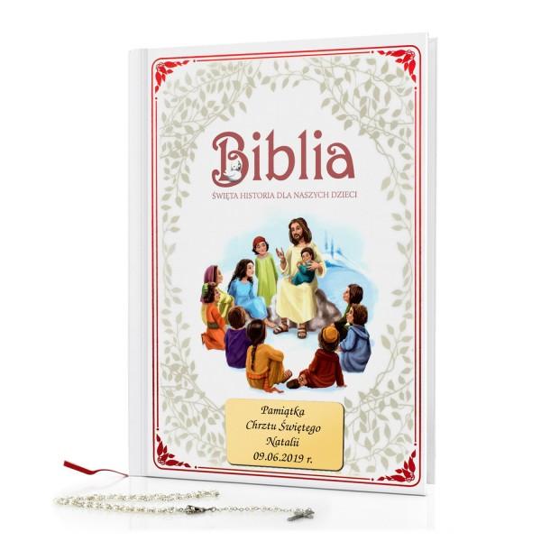 biblia na chrzest z dedykacją