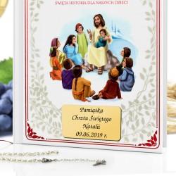 biblia dla dzieci na chrzest z grawerem